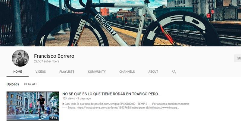El canal de Youtube de francisco borrero