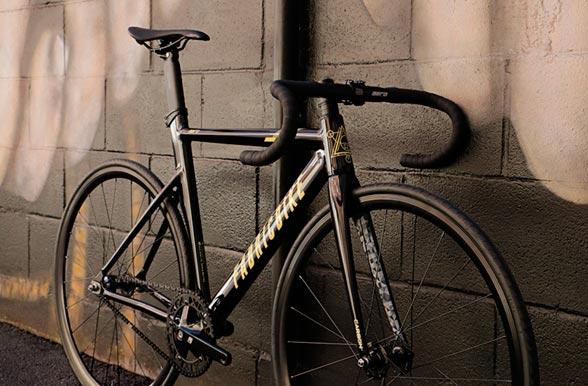 Fixie bike FabricBike Aero Glossy Black & Gold