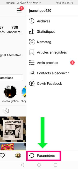 Configuración para verificar perfil de instagram.